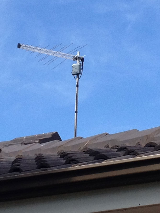 install antenna on roof